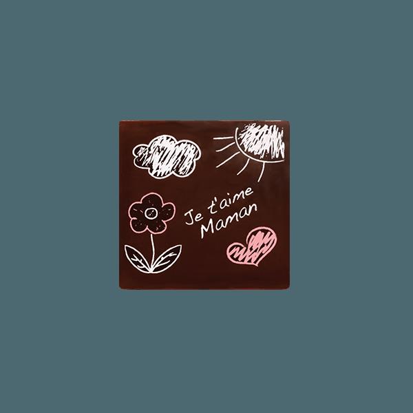 plaquette je taime maman chocolatree