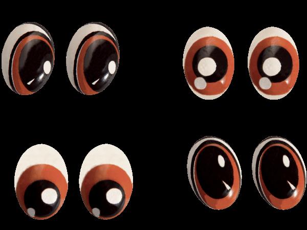 pieces en chocolat en forme de yeux