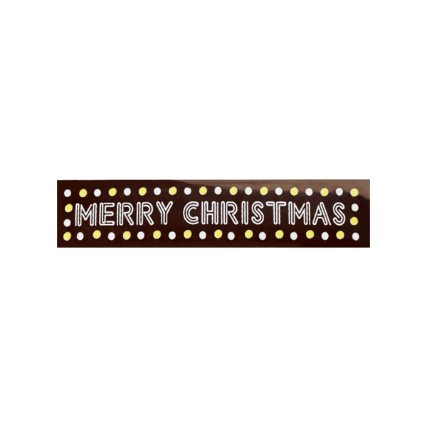 plaquette en chocolat ecriture merry christmas