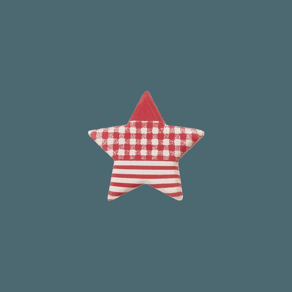 etoile en chocolat style vichy