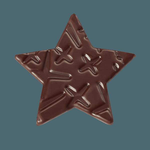 etoile en chocolat texture