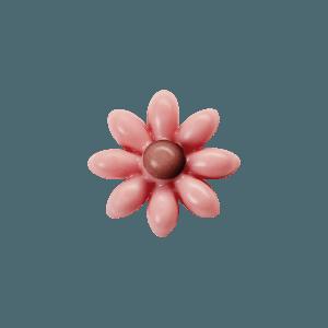 fleur rose en chocolat