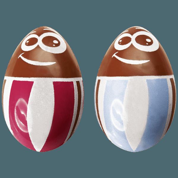 oeufs en chocolat pour paques avec des personnages