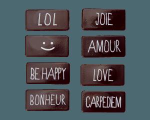 assortiment de plaquettes ecriture lol joie amour love carpediem be happy bonheur
