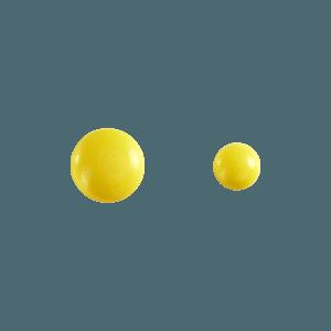 goutte de fruit jaune en chocolat