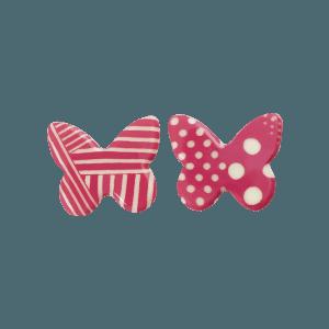 assortiment de 2 papillons avec motifs roses