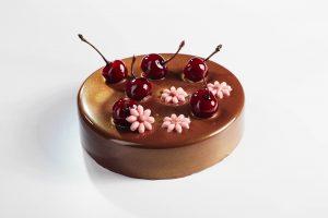 Chocolatree décors entremets chocolat - décor cerise et fleurs