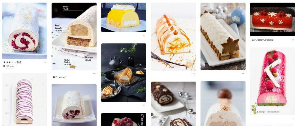 Recherche visuelle Idées de buches Noel Pinterest Chocolatree