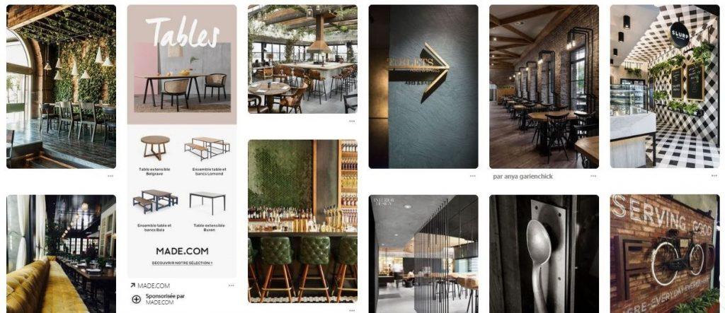 Idées décoration restaurant Pinterest Chocolatree